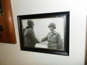 "Wilburn K. Ross shaking hand of General Alexander ""Sandy"" Patch."