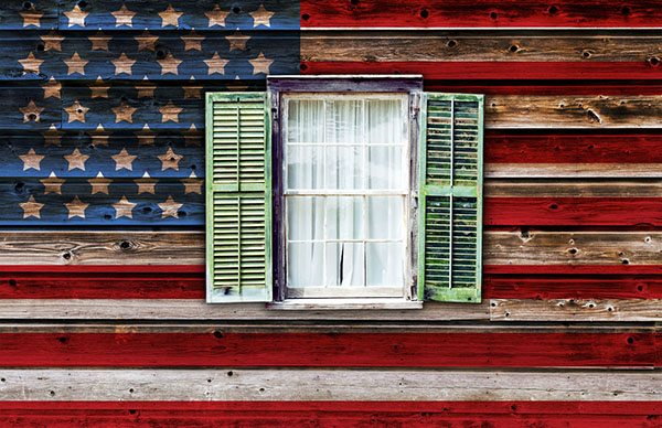 wall-painted-like-american-flag-with-window