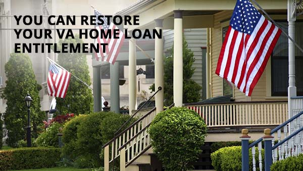 VA Home Loan Entitlement Restoration