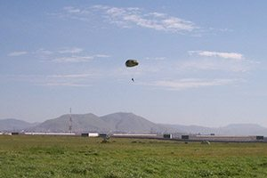 Rick Campos on a routine training jump very close to the Mexico border.