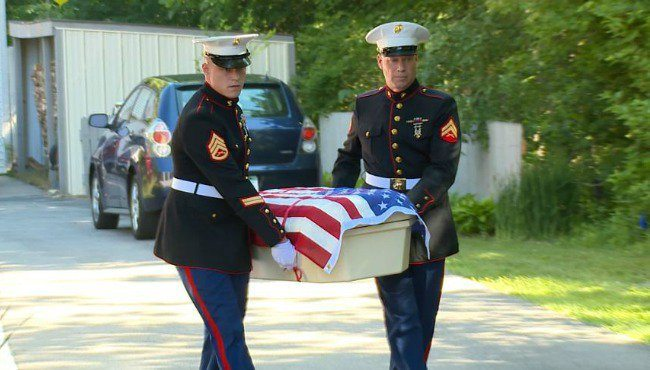 military dog laid to rest