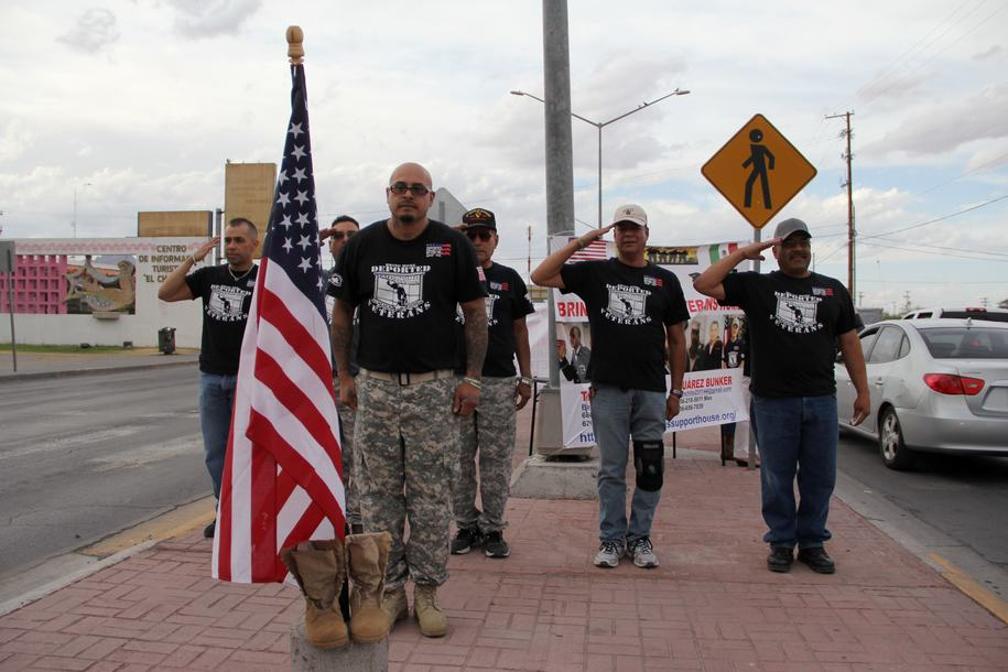 Deported veterans who support the US